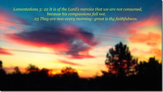 sunrise mercies